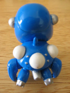 Front of the classic blue Tachikoma